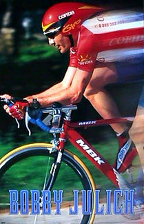 "Bobby Julich ""Blur"" Cycling Poster - Costacos 1999"