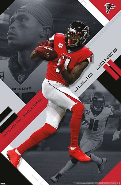 "Julio Jones ""Touchdown Machine"" Atlanta Falcons Official NFL Football Action Poster - Trends International 2020"