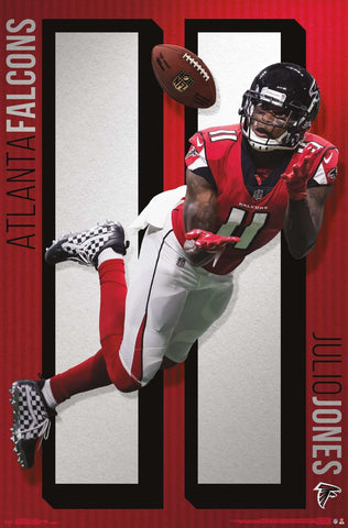 "Julio Jones ""Laying Out"" Atlanta Falcons Official NFL Football Action Poster - Trends International"