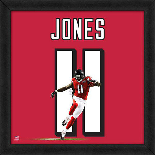 "Julio Jones ""Number 11"" Atlanta Falcons NFL FRAMED 20x20 UNIFRAME PRINT - Photofile"