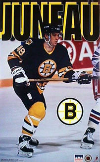 "Joe Juneau ""Action"" Boston Bruins Poster - Starline 1994"