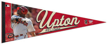 "Justin Upton ""Action"" Premium Felt Collector's Pennant (LE /2010) - Wincraft"