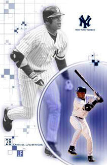 "David Justice ""Pinstripes"" New York Yankees Poster - Costacos 2000"