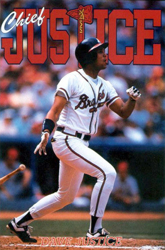 "David Justice ""Chief Justice"" Atlanta Braves Poster - Costacos Brothers 1991"