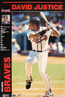 "David Justice ""Profile"" Atlanta Braves MLB Action Poster - Norman James 1991"