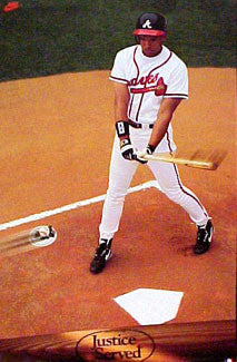 "David Justice ""Justice Served"" Atlanta Braves Poster - Nike 1992"