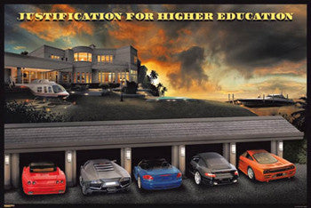 "Ultimate Supercar Garage ""Justification for Higher Education"" Poster - Pyramid International"