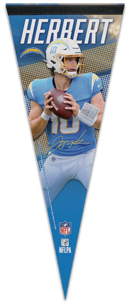 Justin Herbert Los Angeles Chargers Signature Series Premium Felt Collector's PENNANT - Wincraft 2020.