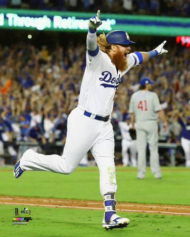 Justin Turner 2017 NLCS Game 2 Walk-Off Los Angeles Dodgers Premium Poster Print - Photofile
