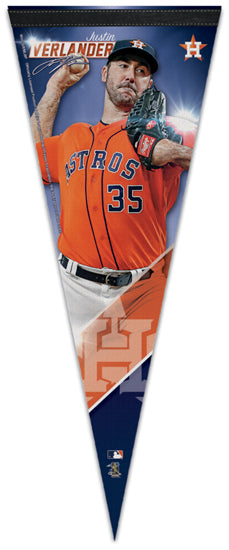 Justin Verlander Signature Series Houston Astros Official MLB Premium Felt Pennant - Wincraft Inc.