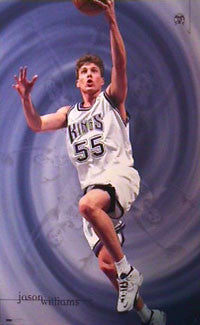 "Jason Williams ""Rookie"" Sacramento Kings Poster - Costacos 1999"