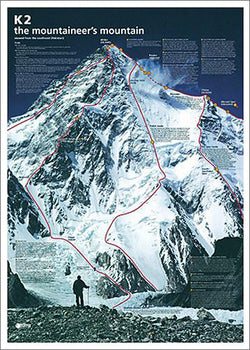 K2: The Mountaineer's Mountain Wall Chart Poster - Yumz