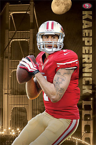 "Colin Kaepernick ""Golden Star"" San Francisco 49ers Poster - Costacos 2013"