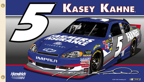 "Kasey Kahne ""Kasey Nation"" 3'x5' Flag - BSI Products 2012"