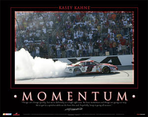"Kasey Kahne ""Momentum"" (Victory at Texas) NASCAR Racing Poster - Time Factory 2006"