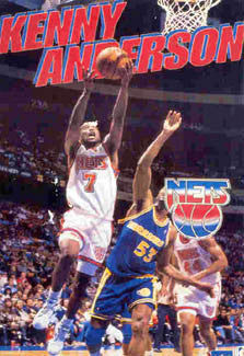 "Kenny Anderson ""Drive"" New Jersey Nets Action Poster - Starline 1993"