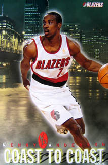 "Kenny Anderson ""Coast to Coast"" Portland Trail Blazers Poster - Costacos 1997"