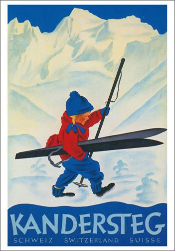 "Kandersteg Switzerland ""Ski Girl"" (1933) Reprint Poster - AAC Inc."