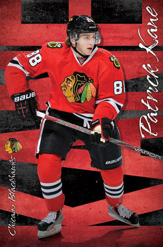 "Patrick Kane ""Red Hot"" Chicago Blackhawks NHL Hockey Action Poster - Trends International"