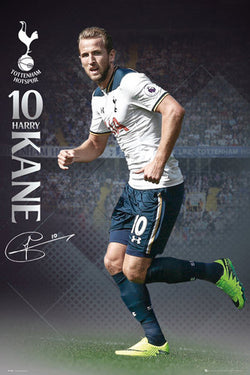 "Harry Kane ""In Action"" Tottenham Hotspur FC Official EPL Football Poster - GB Eye 2016/17"