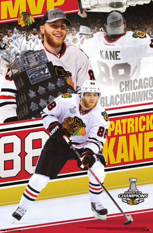 "Patrick Kane ""MVP"" 2013 Conn Smythe Winner Commemorative Poster - Costacos Sports"