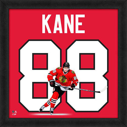 "Patrick Kane ""Number 88"" Chicago Blackhawks FRAMED 20x20 UNIFRAME PRINT - Photofile"