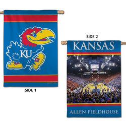 Kansas Jayhawks Basketball Official NCAA 2-Sided Vertical Flag Wall Banner - Wincraft Inc.
