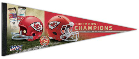 Kansas City Chiefs 2-Time Super Bowl Champions Premium Felt Collector's Pennant - Wincraft Inc.