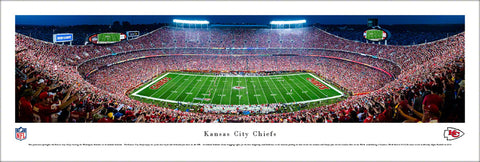 Kansas City Chiefs Arrowhead Stadium Game Night (2017) Panoramic Poster Print - Blakeway