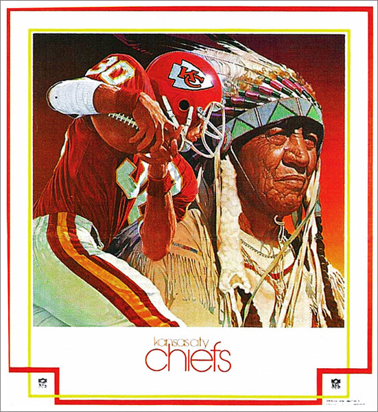 Kansas City Chiefs 1983 NFL Theme Art Vintage Original Poster - DAMAC Inc./Artist Chuck Ren