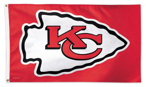Kansas City Chiefs Official NFL Football Deluxe-Edition 3'x5' Flag - Wincraft Inc.