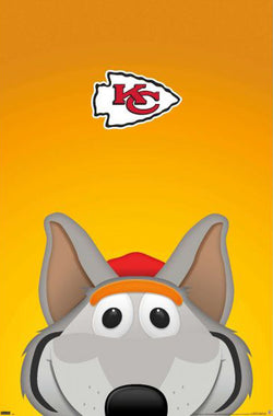 "Kansas City Chiefs ""KC Wolf Style"" NFL Theme Art Team Logo Poster - S. Preston/Trends Int'l."