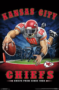 "Kansas City Chiefs ""Chiefs Pride Since 1960"" NFL Theme Art Poster - Liquid Blue/Trends Int'l."