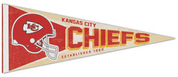 Kansas City Chiefs NFL Retro Style Premium Felt Collector's Pennant - Wincraft Inc.