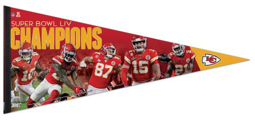 *SHIPS 2/21* Kansas City Chiefs Super Bowl LIV MOMENTS Extra-Large 17x40 Premium Felt Collector's PENNANT - Wincraft