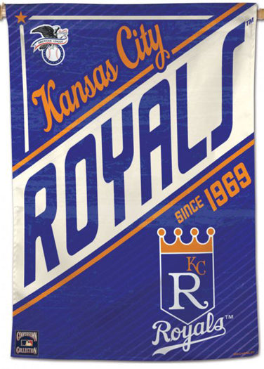 "Kansas City Royals ""Since 1969"" MLB Cooperstown Collection Premium 28x40 Wall Banner - Wincraft Inc."