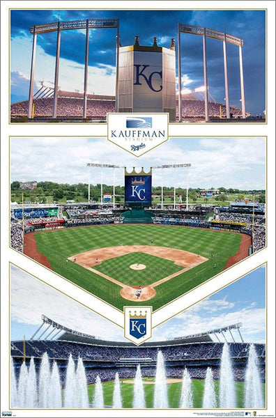 Kansas City Royals Kauffman Stadium Triptych Wall Poster - Trends International