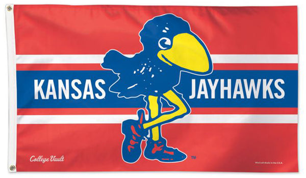 "Kansas Jayhawks ""Jay Bird Classic"" Retro 1910s-Style College Vault Collection NCAA Deluxe 3'x5' Flag"