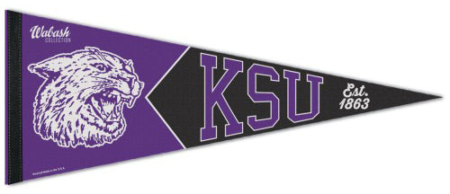 Kansas State Wildcats NCAA Wabash Collection 1940s-Style Premium Felt Collector's Pennant - Wincraft Inc.