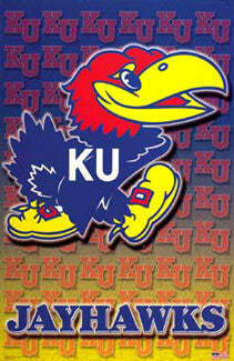 Kansas Jayhawks Official NCAA Team Logo Poster - Starline Inc.