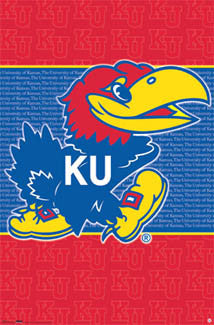 Kansas Jayhawks Official NCAA Team Logo Poster - Costacos Sports