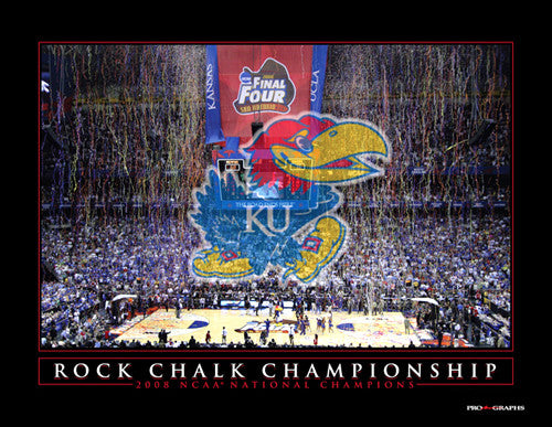 "Kansas Jayhawks ""Rock Chalk Championship"" 2008 National Champions Commemorative Print"