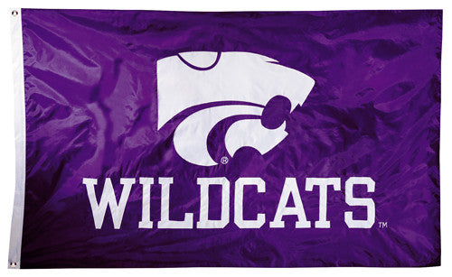 Kansas State Wildcats Official NCAA Premium Nylon Applique 3'x5' Flag - BSI Products Inc.