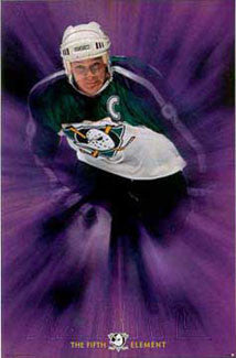 "Paul Kariya ""Fifth Element"" Anaheim Mighty Ducks Poster - Costacos 1997"