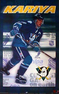 "Paul Kariya ""Intensity"" Anaheim Mighty Ducks Poster - T.I.L. 1999"