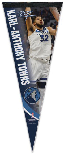 "Karl-Anthony Towns ""Signature Series"" Minnesota Timberwolves Premium Felt Collector's PENNANT - Wincraft 2017"