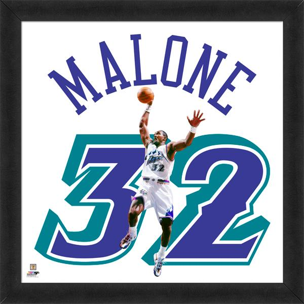 "Karl Malone ""Number 32"" Utah Jazz Classic FRAMED 20x20 UNIFRAME PRINT - Photofile Inc."