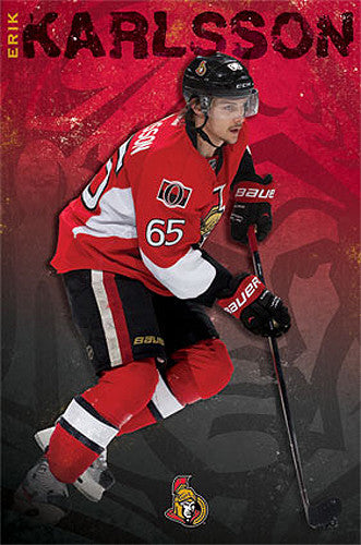 "Erik Karlsson ""Superstar"" Ottawa Senators NHL Action Poster - Costacos 2013"