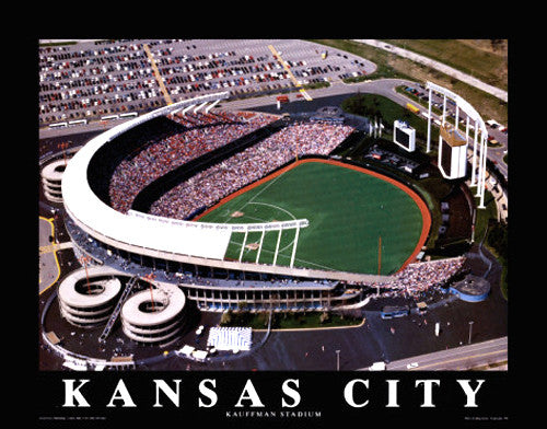 "Kauffman Stadium ""From Above"" Kansas City Royals Gameday Poster Print - Aerial Views"