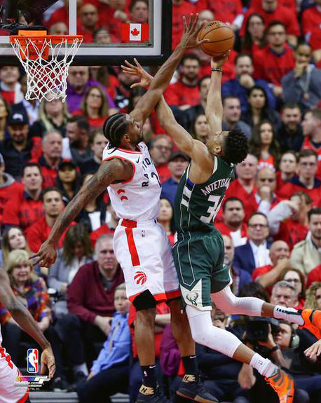 "Kawhi Leonard ""Good Night Giannis"" Toronto Raptors NBA Basketball Premium Poster Print - Photofile 16x20"
